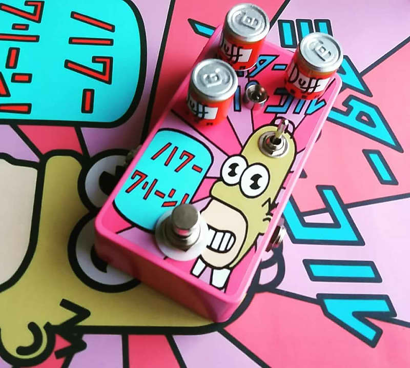 Gojira FX Mr. Sparkles Overdrive Pink (With Duff beer can knobs)