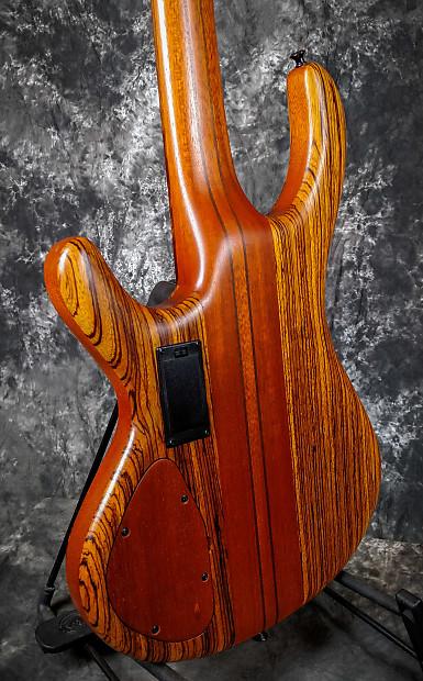 fleenor 5 string electric bass zebrawood mahogany narrow reverb. Black Bedroom Furniture Sets. Home Design Ideas