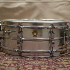 """Ludwig Acrolite Prototype 5x14"""" Aluminum Snare Early 1960s"""