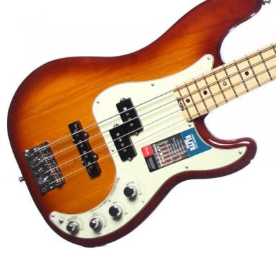 Fender American Elite Precision Bass - Tobacco Sunburst w/ Maple Fingerboard for sale