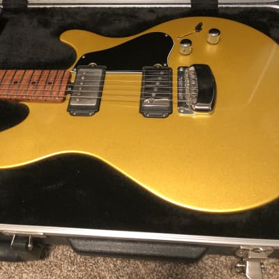 Ernie Ball Music Man James Valentine Signature Electric Guitar with Roasted Maple Neck 2018 Saturn Gold for sale