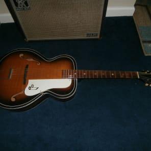 Vintage 1960's Truetone Archtop Acoustic Guitar! Recent Neck Set, Silvertone, Harmony! for sale