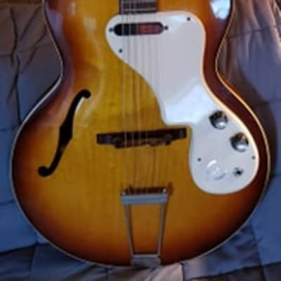 Gibson-Made Epiphone Granada E-444T Hollow-body Electric Guitar 1964 (?) With Original Case for sale