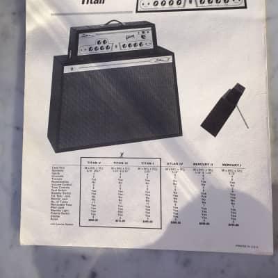 1963 Gibson Titan Dealer Sheet vintage collector case candy collector amplifier