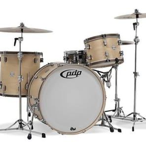 Pacific by DW Concept Maple Classic 3-Piece Shell Kit - Natural with Walnut Hoops (Used/Mint)