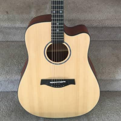 Solid Spruce top Cutaway Acoustic Guitar w/Gigbag for sale
