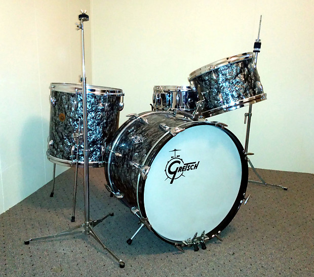 gretsch round badge 63 or 64 black pearl reverb