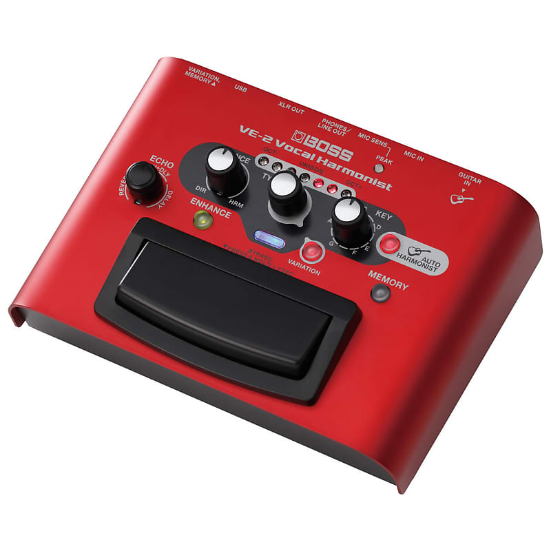 boss ve 2 vocal harmonist multi effects pedal with power reverb. Black Bedroom Furniture Sets. Home Design Ideas