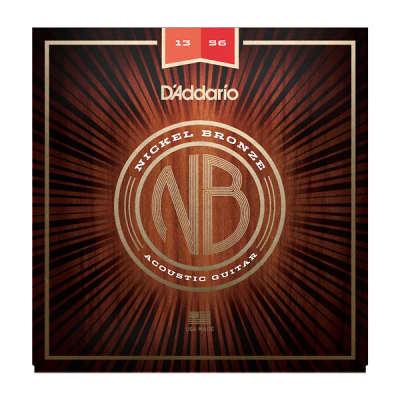 D'Addario NB1356 Nickel Bronze Acoustic Guitar Strings Medium 13-56