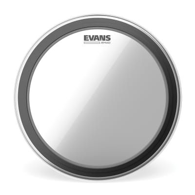 Evans EMAD Clear Bass Drum Head, 24 Inch