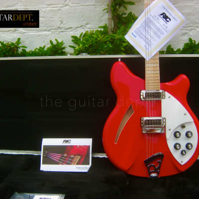 ♚MINT♚ LIKE NEW!♚ 2019 RICKENBACKER 360-6 Deluxe LIMITED EDITION♚1 of 25!♚Pillar Box Red♚330♚AMAZING