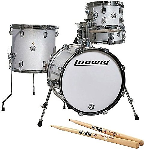 ludwig breakbeats by questlove white sparkle drum set with reverb. Black Bedroom Furniture Sets. Home Design Ideas