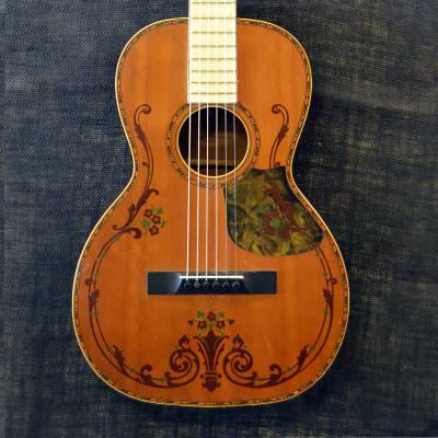 REGAL VINTAGE PARLOR GUITAR 1920'S Light Amber
