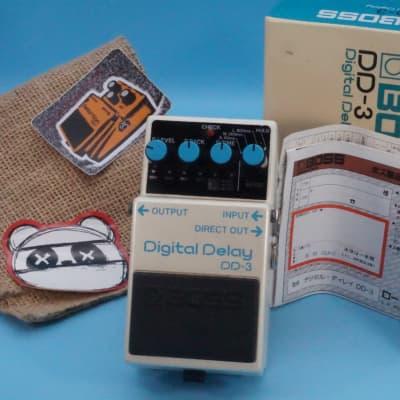 Boss DD-3 Digital Delay w/Original Box   1991 Blue Label   Fast Shipping!