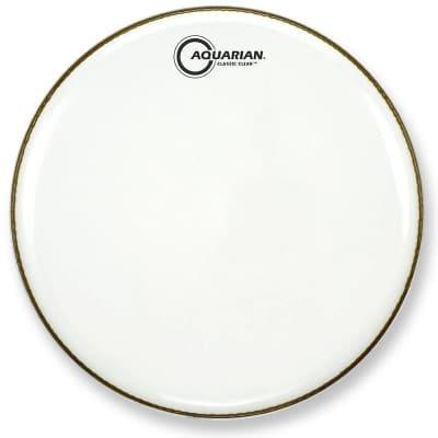 """Aquarian CCSN13-U 13"""" Classic Clear Snare Side Drum Head"""