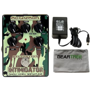 Rocktron Gary Hoey Intimidator Distortion Effects Pedal Bundle w/Power Supply and Cloth