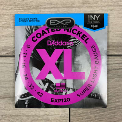 D'Addario EXP120 Coated Nickel Electric Guitar Strings, 09-42, Super Light
