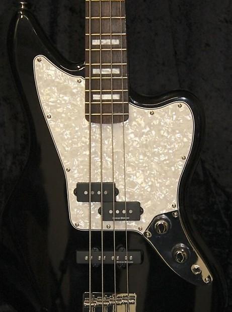 squier vm jaguar bass pickguard 4 ply white pearl reverb. Black Bedroom Furniture Sets. Home Design Ideas