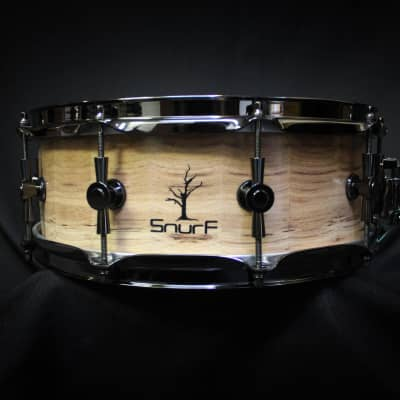 """Snurf Drums Custom Horizontal Hickory 14"""" x 5.5"""" Snare Drum - Natural"""