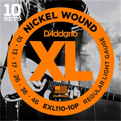 D'Addario EXL110 Electric Guitar Strings - 10-Pack