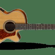 <p>Cort L100F Concert Cutaway Acoustic/Electric Guitar - Natural</p>  for sale