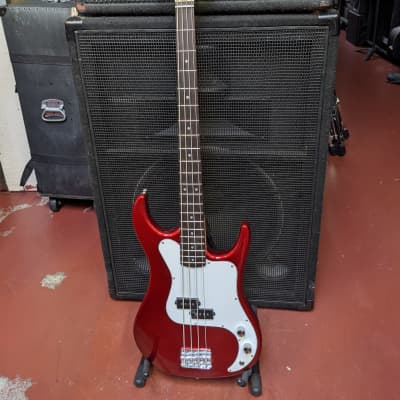 NEW! Baltimore Candy Apple Red Finish Precision Style Bass Guitar - Looks/Plays/Sounds Really Good! for sale