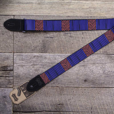 "Levy's 2"" Print Guitar Strap on Polyester with Suede Leather Ends, MP2TC-001"