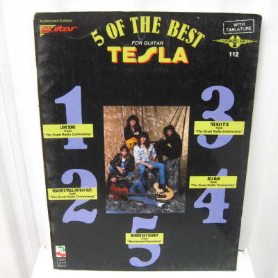 Tesla 5 of the Best for Guitar Sheet Music Song Book Songbook Tab Tablature