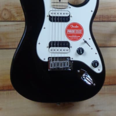 New Squier® Contemporary Stratocaster® HH Maple Fingerboard Black Metallic