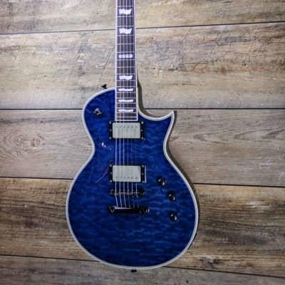 ESP E-II Eclipse QM Marine Blue 2014 Model- Upgraded Pickups w/ESP Hardcase image