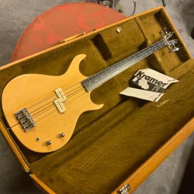 LAST CALL. Kramer Kramer DMZ 4001 Fretless Bass  with paperwork for sale