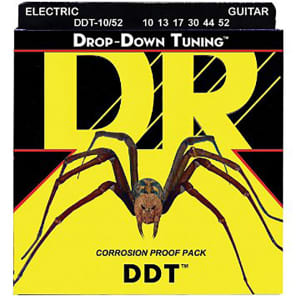 DR DDT-10/52 Drop Down Tuning Electric Guitar Strings - Heavy (10-52)