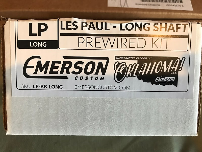 emerson les paul wiring harness long shaft pots 2018 reverb description shop policies