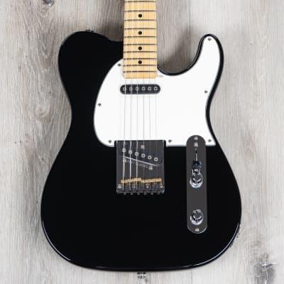 G&L Fullerton Deluxe ASAT Classic Guitar w/ Gig Bag, Maple Fretboard, Jet Black