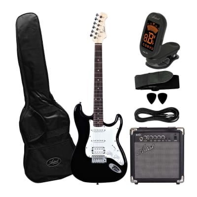 Artist STH Black Electric Guitar with 10 Watt Amp for sale