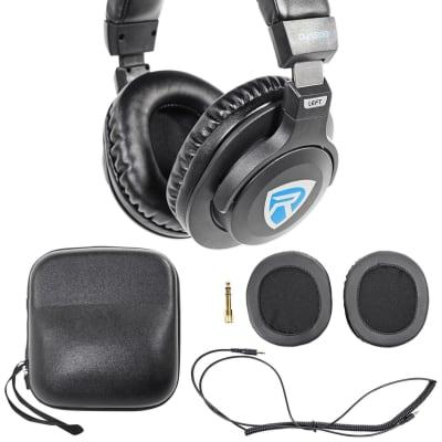 Rockville DJ1500 DJ Headphones w/Detachable Coil Cable, Case+Extra Ear Pad