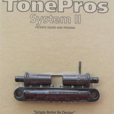TonePros T3BT-B Metric Tuneomatic Bridge Black