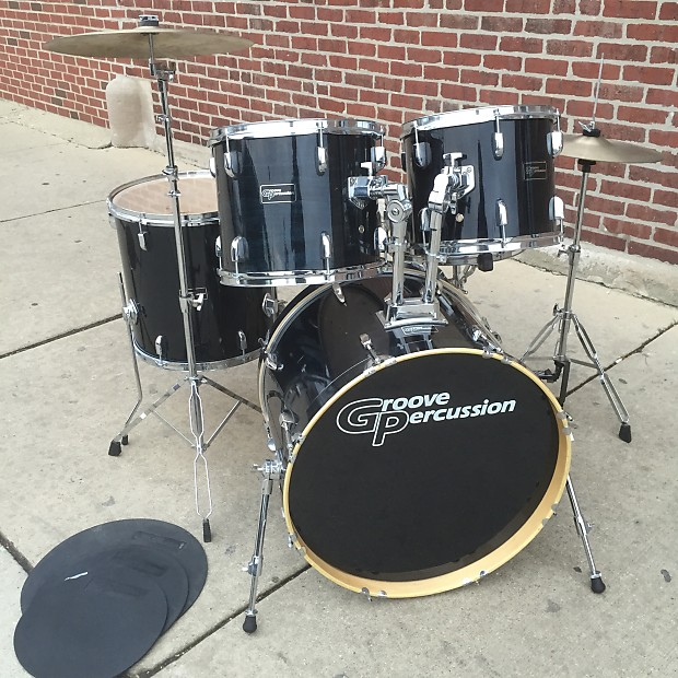 groove percussion 12 13 16 22 complete drum set reverb. Black Bedroom Furniture Sets. Home Design Ideas