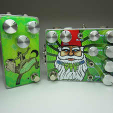 McSpunckle Effects  Gnomeratron and Aardvarks O/D Boost Matching Green Pedal Set