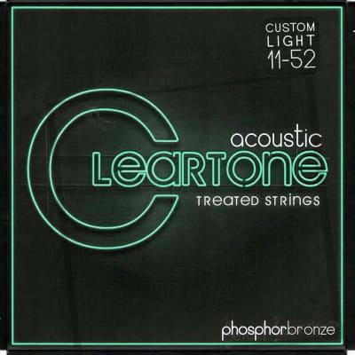 Cleartone 7411 Acoustic Guitar Strings, Phosphor Bronze, Custom Light, 11-52