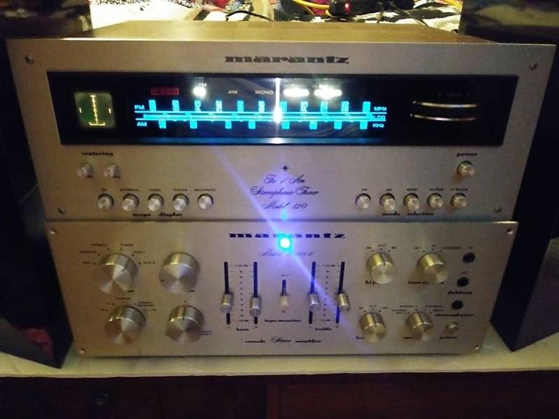 Marantz Amplifier 1200b/Tuner 120/scope Amp 74-76/Turner 71-74 Silver  /black/woodgrain