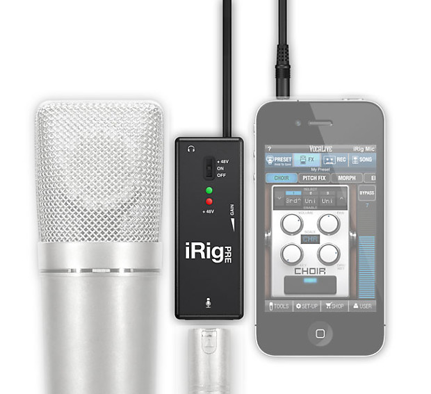 IK Multimedia iRig PRE - Universal Microphone Interface for iOS devices &  Android devices