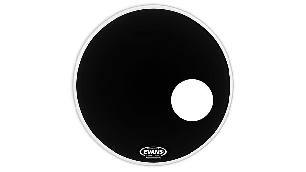 "Evans 22/"" EQ3 Resonant Black Bass Drum Head BD22RB"