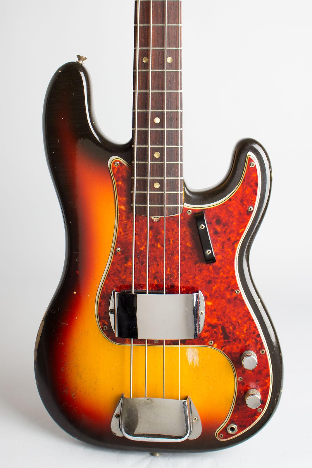 Fender  Precision Bass Solid Body Electric Bass Guitar (1966), ser. #141012, original black tolex hard shell case.