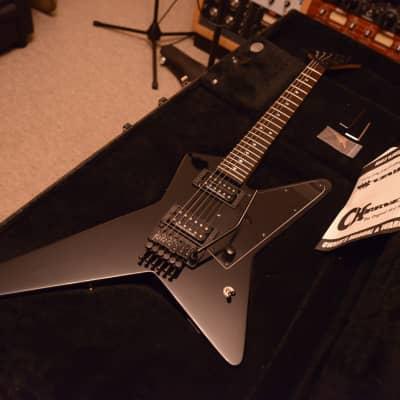 Charvel USA Custom Shop Star Black Jackson Pointy Headstock 80's logo Floyd Rose Guitar Gus G for sale