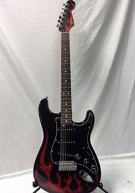 Rare 2002 Fender Stratocaster Hot Rod Flame Guitar Only 250 Made!!