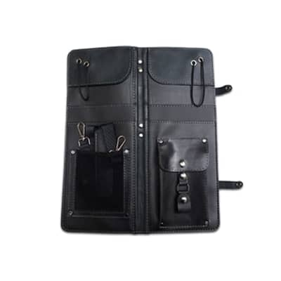 Ahead Bags - ALSCBLK - Black Handmade Leather Stick Case w/Drum Key Holder