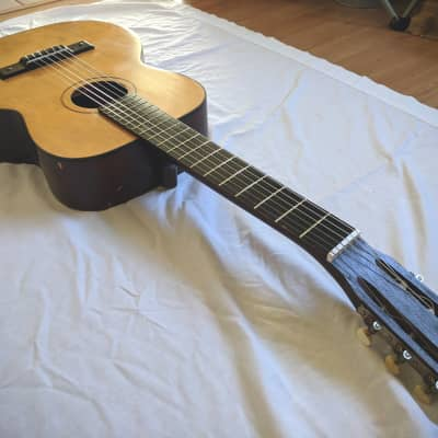 Vintage 1950's Kay K7202 Classical Nylon Acoustic Guitar (setup with new strings) for sale