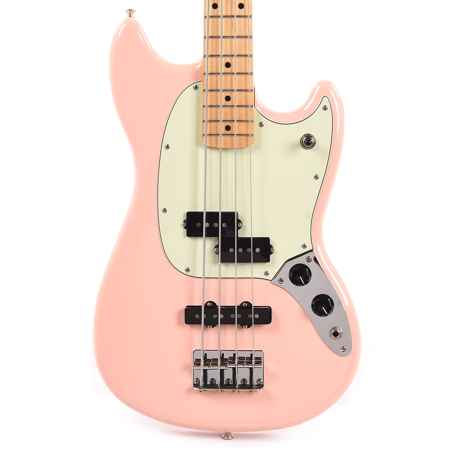Fender Offset Series Mustang Bass PJ Shell Pink w/Mint Pickguard (CME Exclusive) Pre-Order