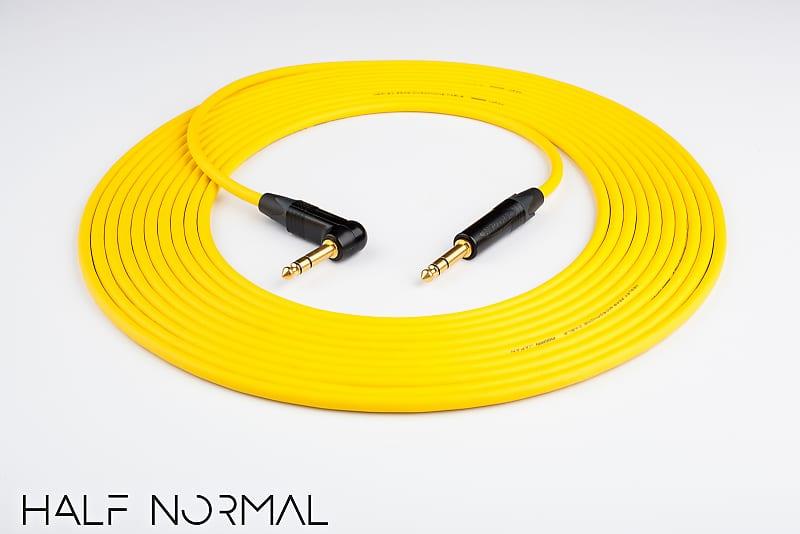 "2/' Mogami 2549 Standard Balanced Neutrik Gold 1//4/"" TRS to 1//4/"" TRS Yellow"